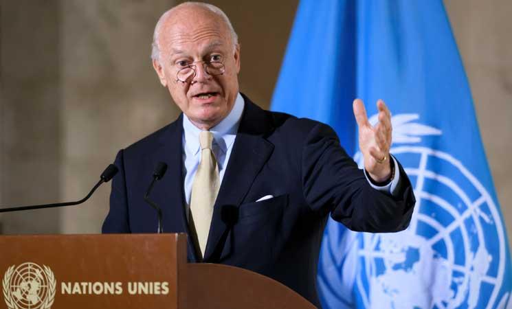 """صورة دي مستورا: من الممكن أن تصبح الغوطة """"حلباً ثانية"""""""