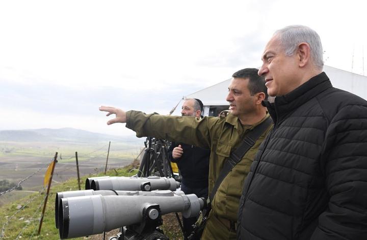 صورة نتنياهو من الجولان المحتل: مستعدون لأي سيناريو