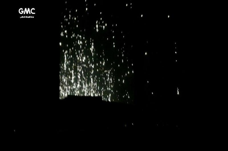 صورة الأسد يقصف الغوطة بالفوسفور الحارق