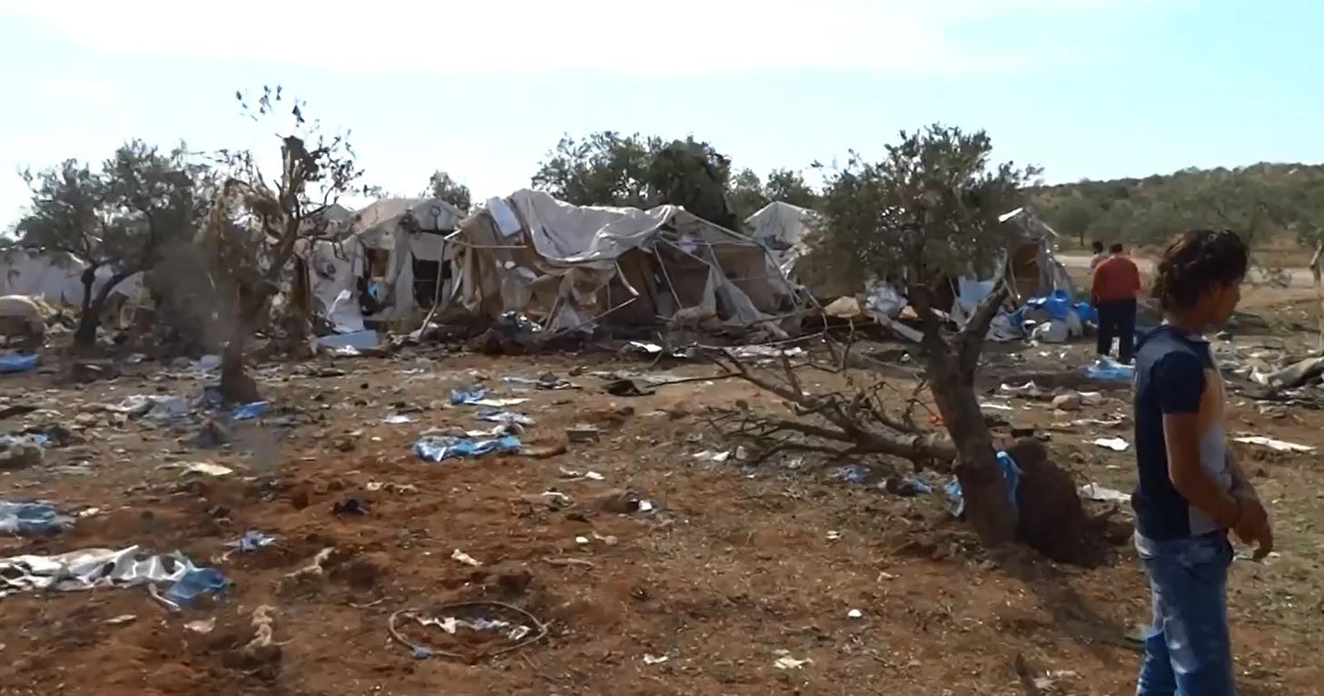 صورة 17 قتيلا وجريحا بقصف للميليشيات الكردية على أطمة