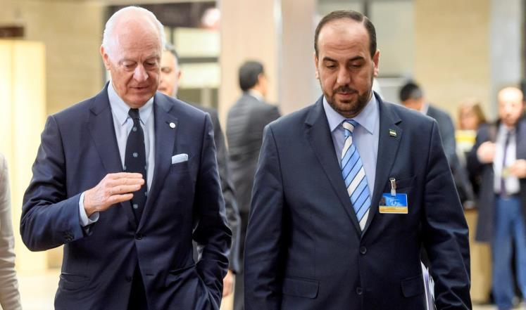 صورة هيئة التفاوض تلتقي وفد المبعوث الدولي