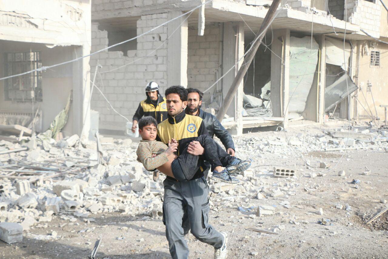 صورة حميميم تتوعد الغوطة بمزيد من القتل