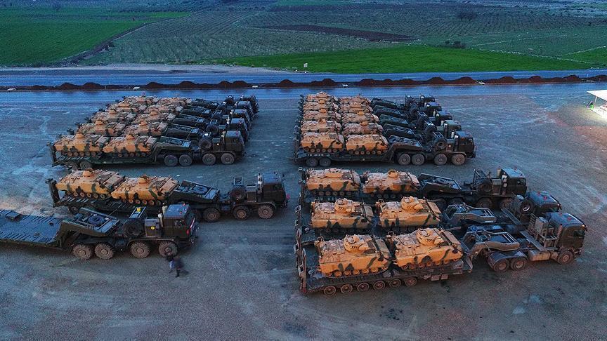 صورة تعزيزات تركية إضافية للحدود السورية