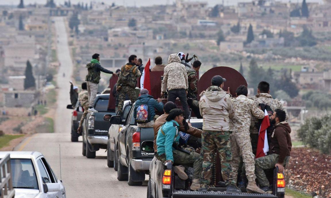 صورة انباء..انسحاب مليشيات الأسد من عفرين