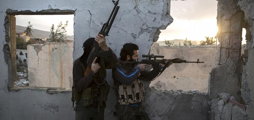 """صورة المعارضة تفتح معركة بـ""""القلمون"""" لمساندة الغوطة"""