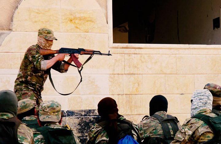 """صورة مجهولون يهاجمون موقعاً لـ """"فيلق الشام"""""""