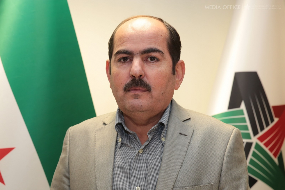 صورة رئيس الائتلاف: السوريون شركاء لكافة الشعوب..لا الأسد