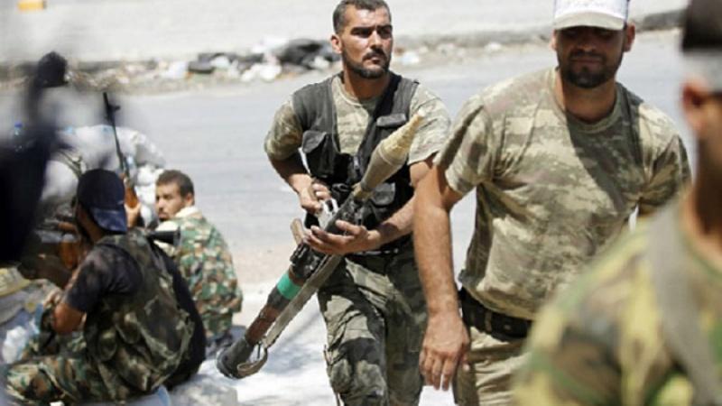 صورة النظام يتجه لمركز الغوطة على أشلاء المحاصرين