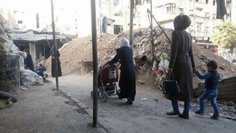 صورة جنوب دمشق..نزوح داخلي في مخيم اليرموك