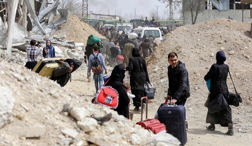 صورة 100 ألف مدني غادروا الغوطة
