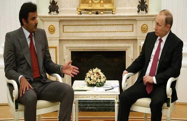 صورة أمير قطر يزور روسيا بدعوة من بوتين