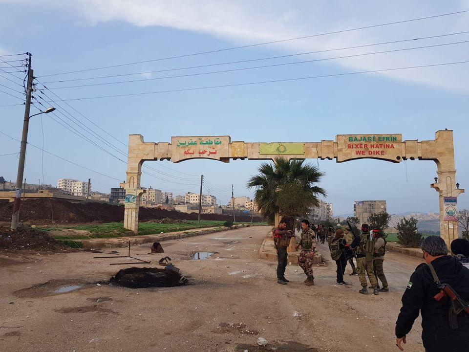 صورة الجيشان التركي والحر يسيطران على عفرين