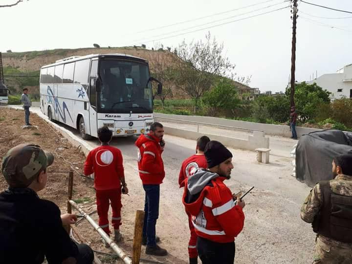 صورة دفعة جديدة من مهجري الغوطة تصل إدلب