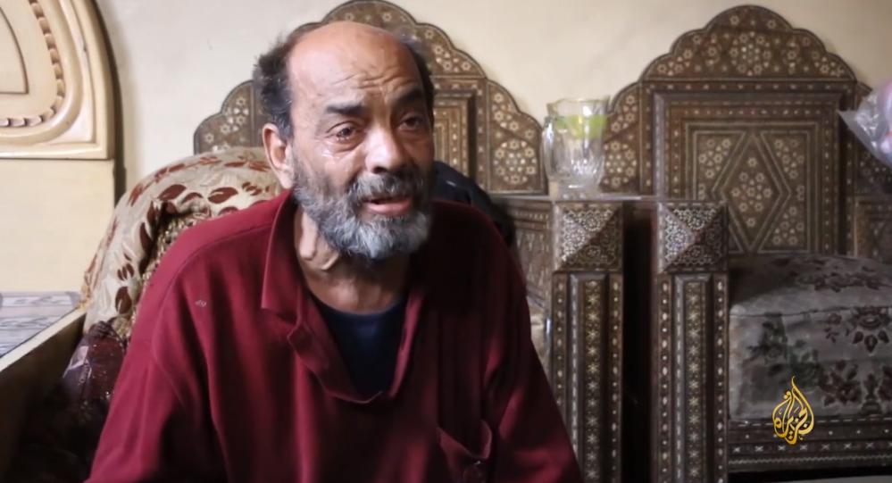 صورة مقعد بالغوطة يستغني عن دوائه ليطعم أبناءه