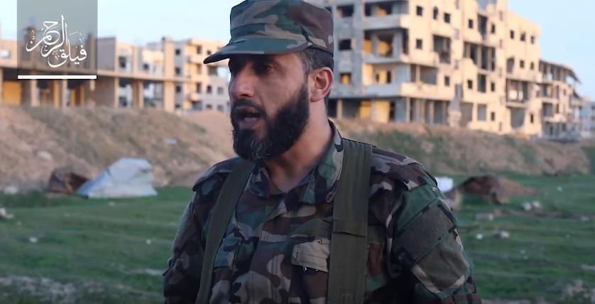 صورة أول كلمة لقائد فيلق الرحمن منذ معارك الغوطة-شاهد