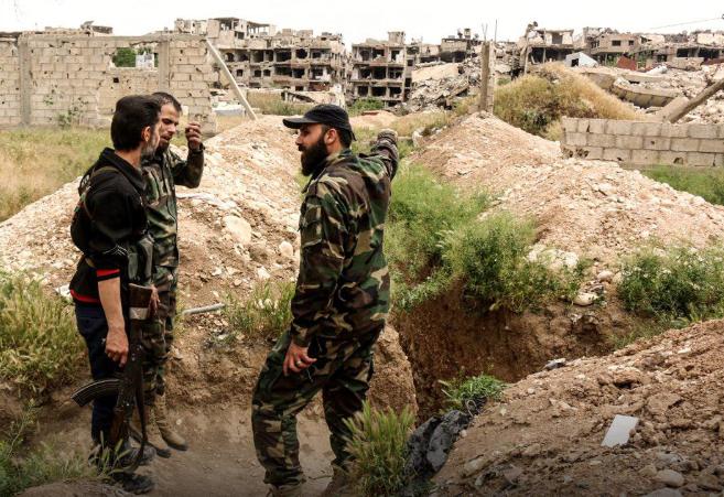 صورة فيلق الرحمن إلى إدلب..ودوما تفاوض