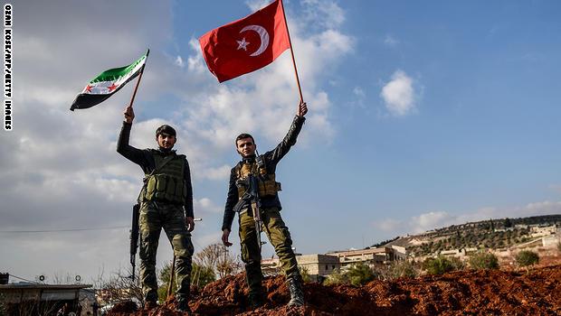 """صورة تركيا تسيطر على كامل """"عفرين"""""""