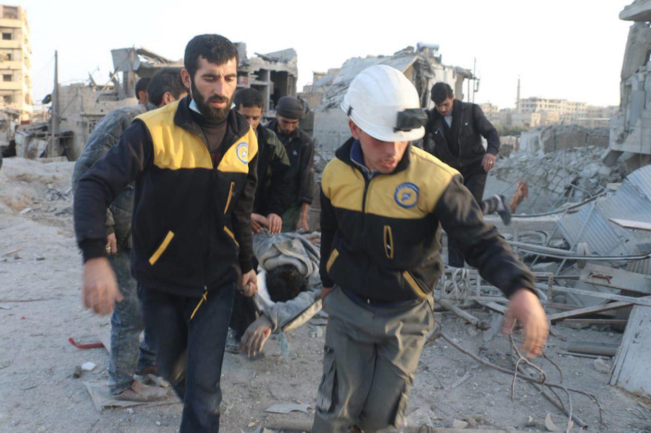 صورة الغوطة تغرق بدماء أهلها أمام العيون الأممية