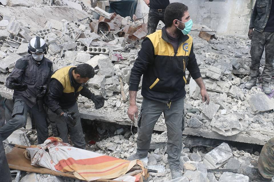 صورة خلال 21 يوما..1200 قتيل و8800 جريح في الغوطة