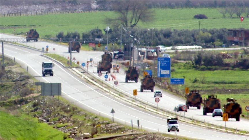 صورة تعزيزات تركية إلى الحدود مع سوريا