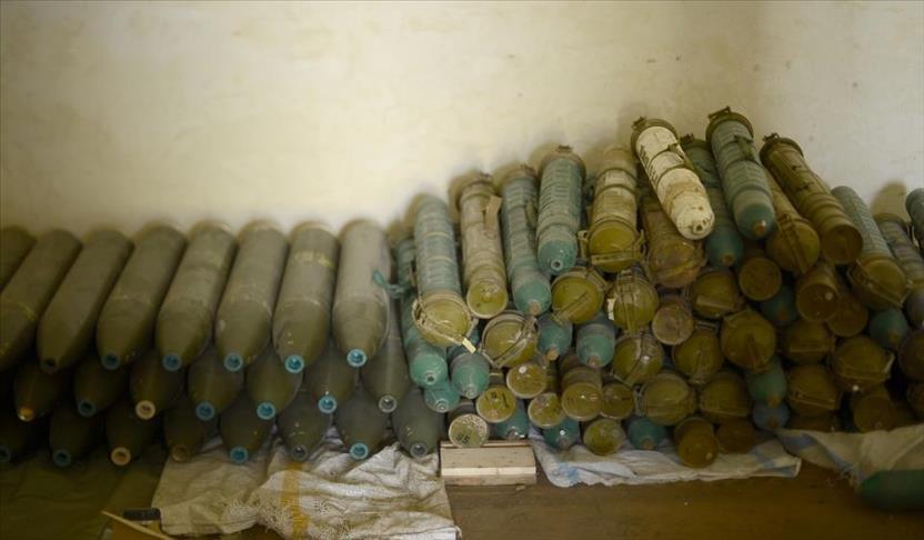 """صورة الحر يعثر على مخزن صواريخ في """"عفرين"""""""