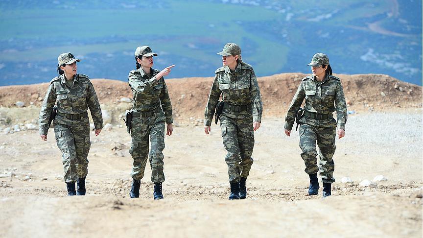 صورة غصن الزيتون..مشاركة عسكرية فعالة لضابطات الجيش التركي