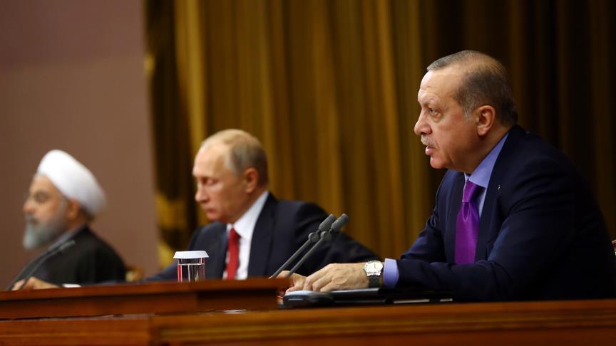 صورة قمة تركية روسية إيرانية لبحث الملف السوري