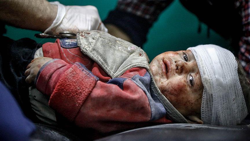 صورة يونيسيف: مقتل 910 أطفال بسوريا خلال 2017