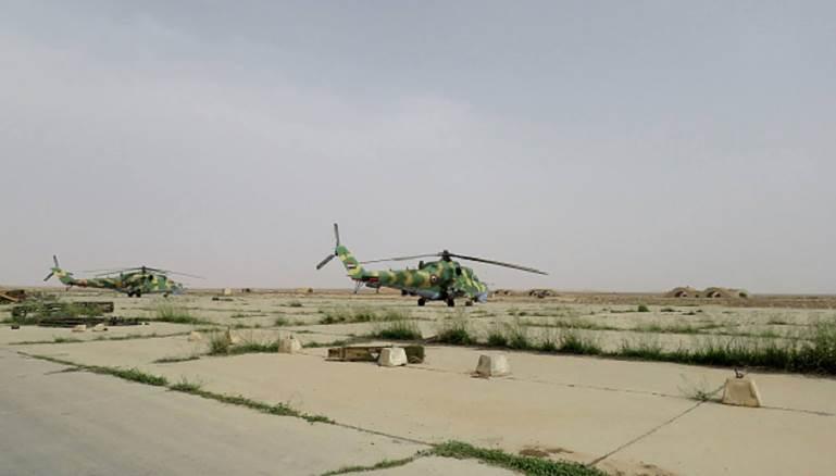 صورة مقاتلات الأسد تنسحب من مطار دير الزور
