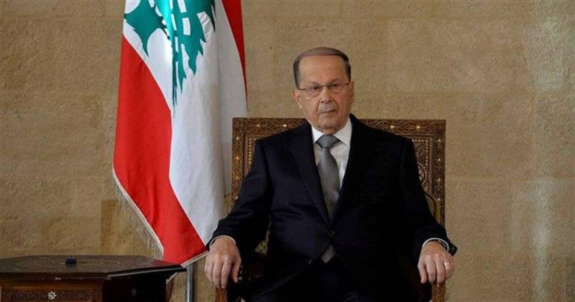 صورة عون: الأسد هو الرئيس الحالي ويجب التعامل مع حكومته