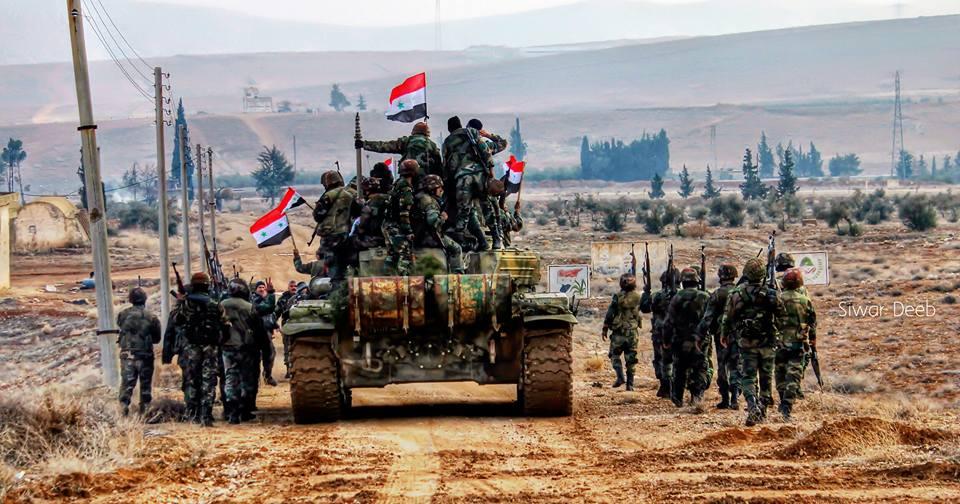 صورة النظام يحشد قواته إلى جنوب دمشق
