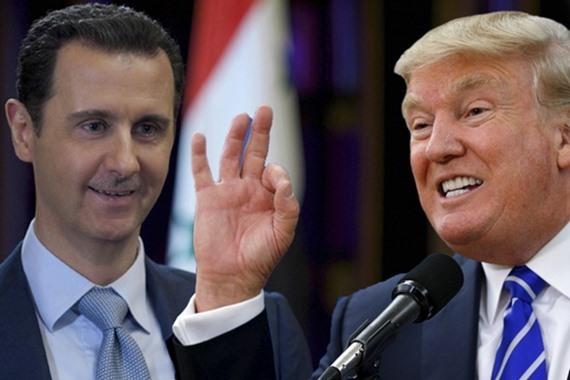 """صورة دوما..ترامب يصف الأسد مجدداً بـ""""الحيوان"""""""