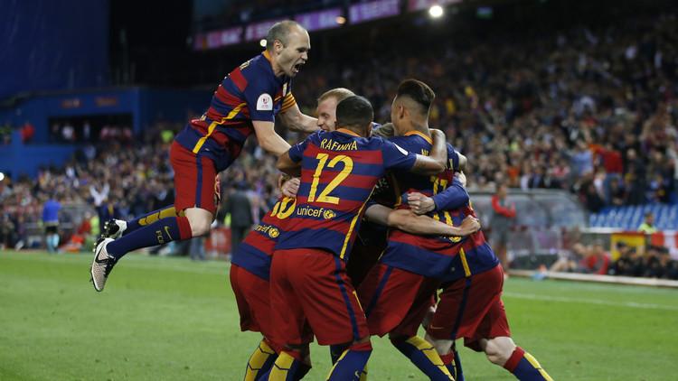 صورة برشلونة بطل كأس الملك للمرة الثلاثين