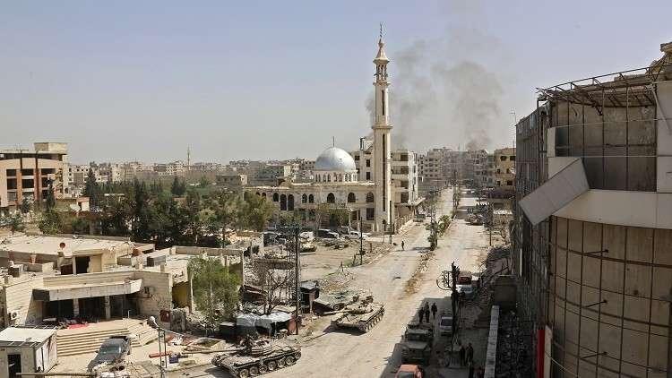 صورة النظام يسعى لانتزاع ما بقي من دمشق ومحيطها
