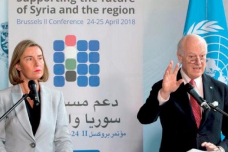 """صورة استياء كبير من بيان """"المجتمع المدني"""" لمؤتمر بروكسل لمساواته بين الضحية والجلاد"""