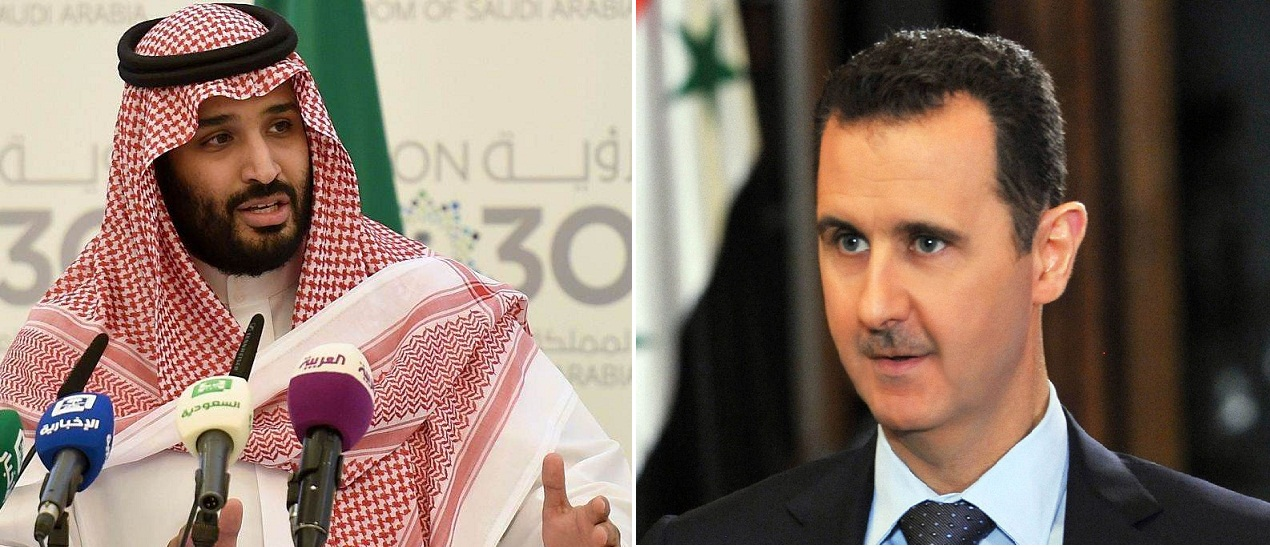 صورة بن سلمان والأسد..هكذا ردّت المعارضة السورية