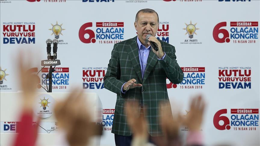 صورة أردوغان: سنكافح الإرهابيين شمالي سوريا حتى يتوقفوا عن الاستفزازات