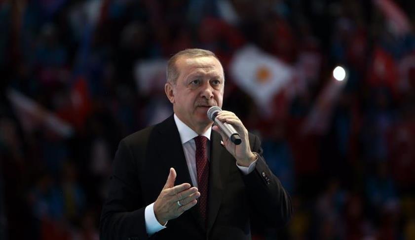 صورة أردوغان يستنكر صمت الغرب حيال مجزرة دوما