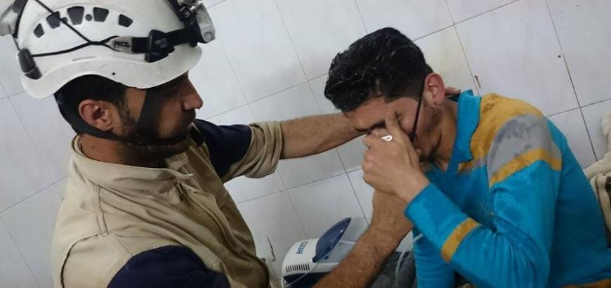 صورة هل استخدم الأسد الغازات السامة مجددا؟