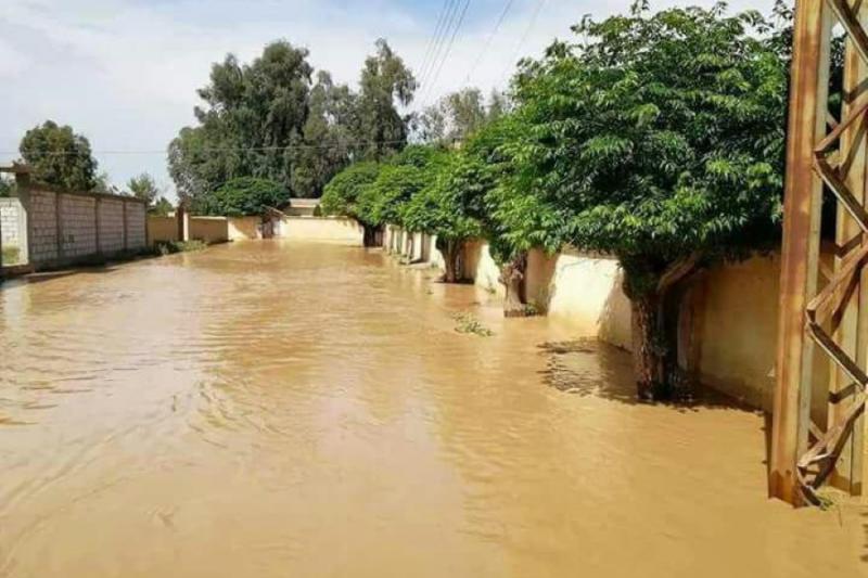 صورة فيضانات جارفة بالحسكة وديرالزور وانهيار جسور