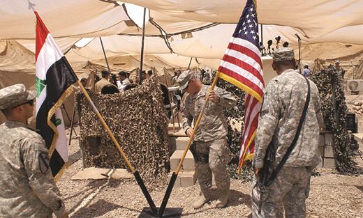 صورة ضربات أمريكية لمواقع بسوريا من العراق