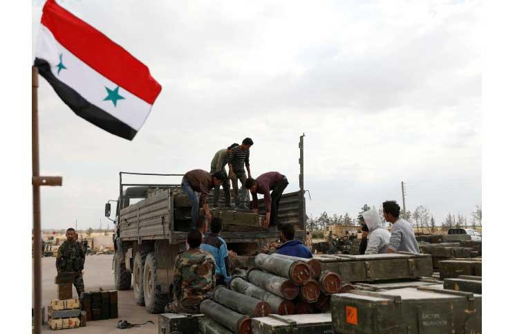 صورة العثور على أسلحة صاروخية ودبابات بالقلمون الشرقي