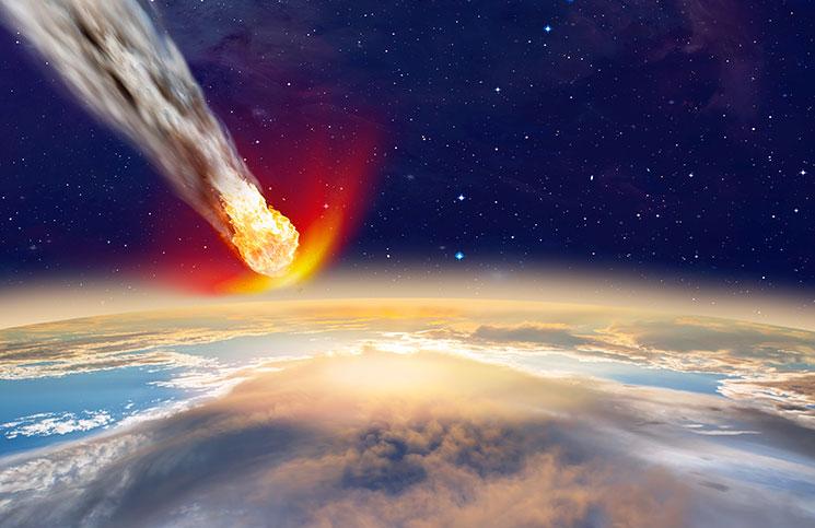 صورة اصطدام كويكب بالأرض قد يؤدي لانتهاء البشرية