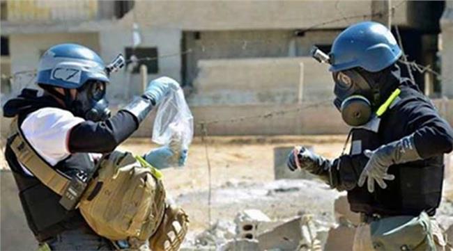 صورة عينات تثبت وجود مواد كيماوية أخفاها الأسد