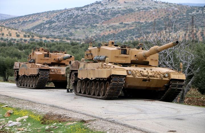 صورة تعزيزات عسكرية تركية نحو نقاط المراقبة