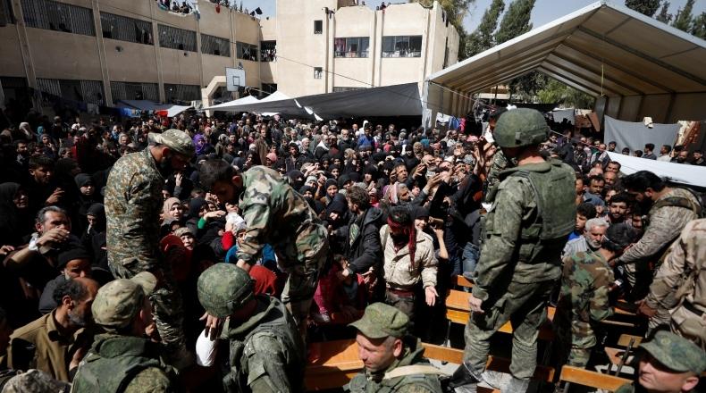 """صورة الغوطة الشرقية..اعتقالات بالجملة لشباب """"دوما"""""""