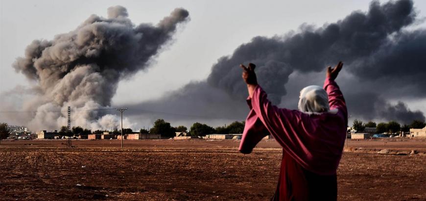صورة الحسكة..مقتل 30 مدنياً بقصف للتحالف الدولي