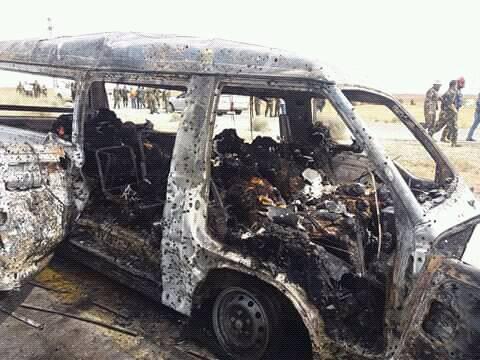 صورة السويداء..11 قتيل بانفجار حافلة عسكرية لقوات الأسد
