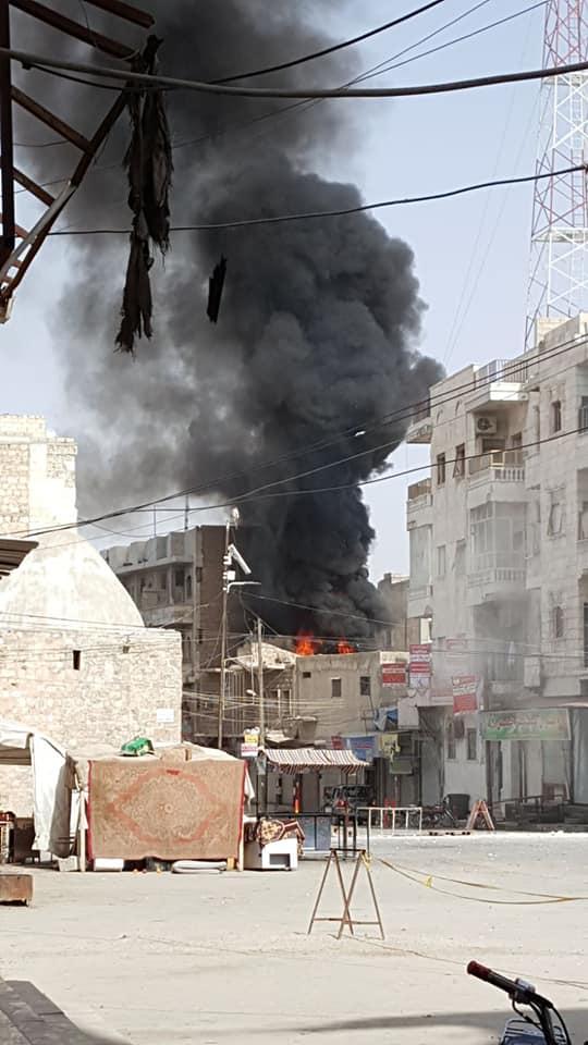 """صورة ريف حلب..توتر واشتباكات بمدينة """"الباب"""""""