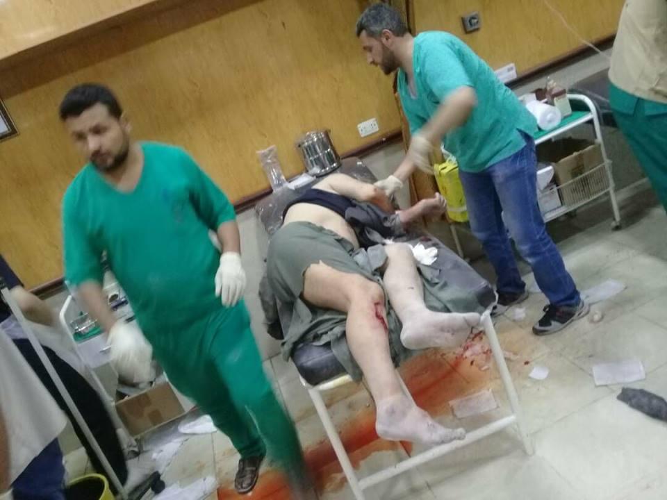 صورة انفجار ضخم يهز مدينة إدلب